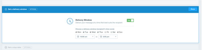 Delivery Window