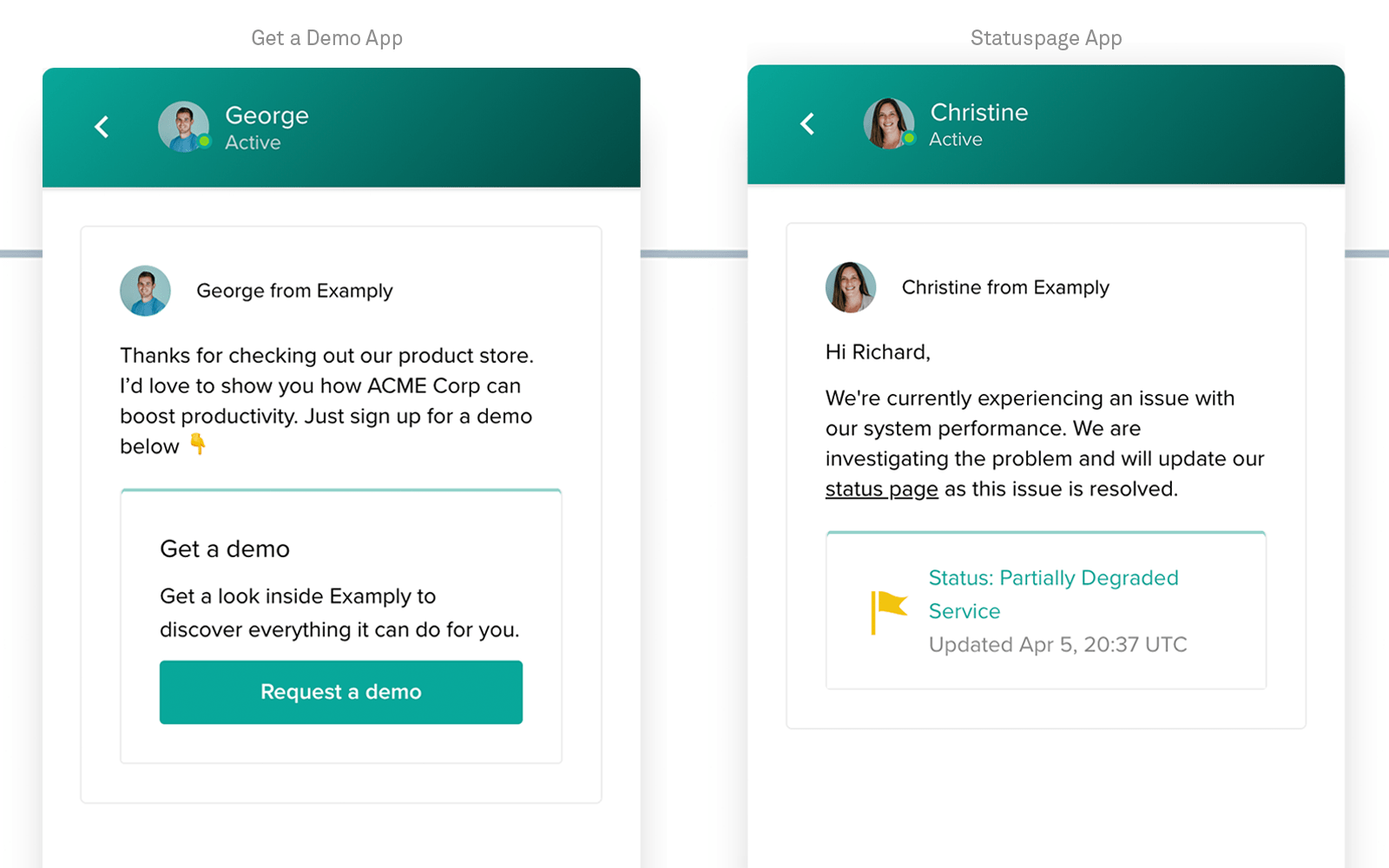 Apps in Intercom Messenger