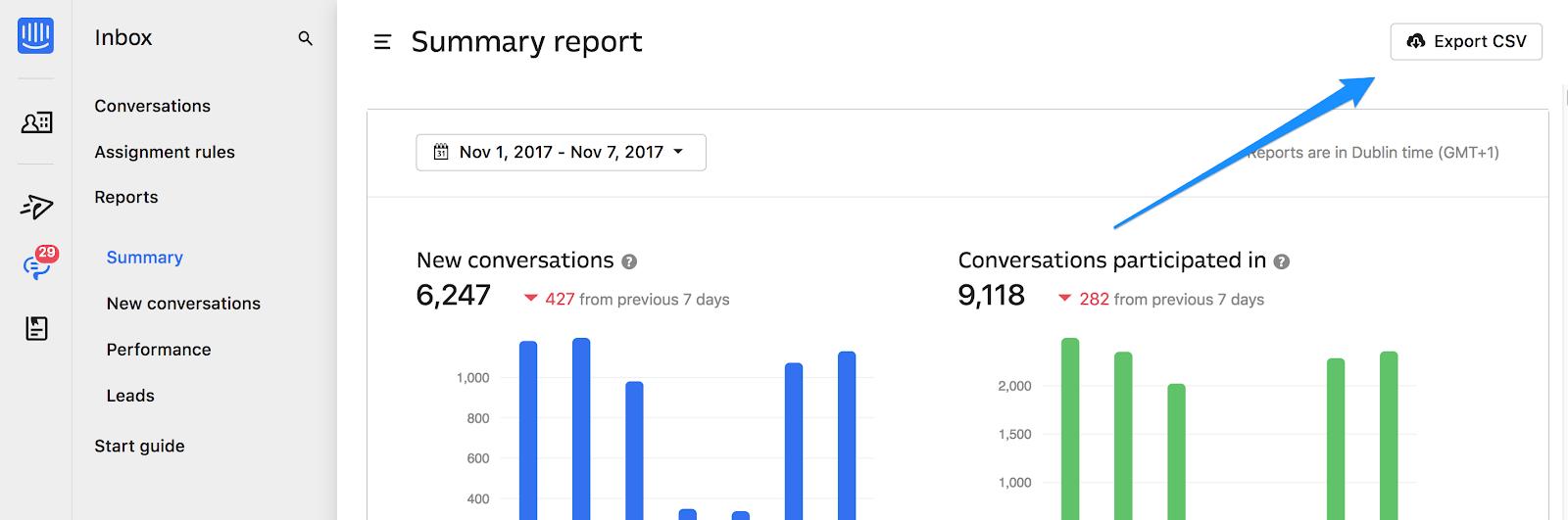 Export conversation metadata