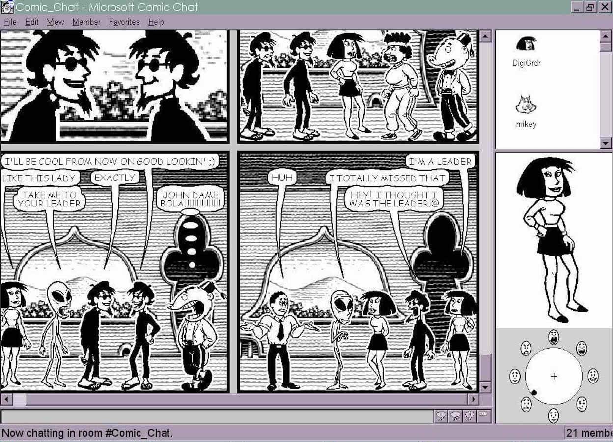 Comic chat screenshot