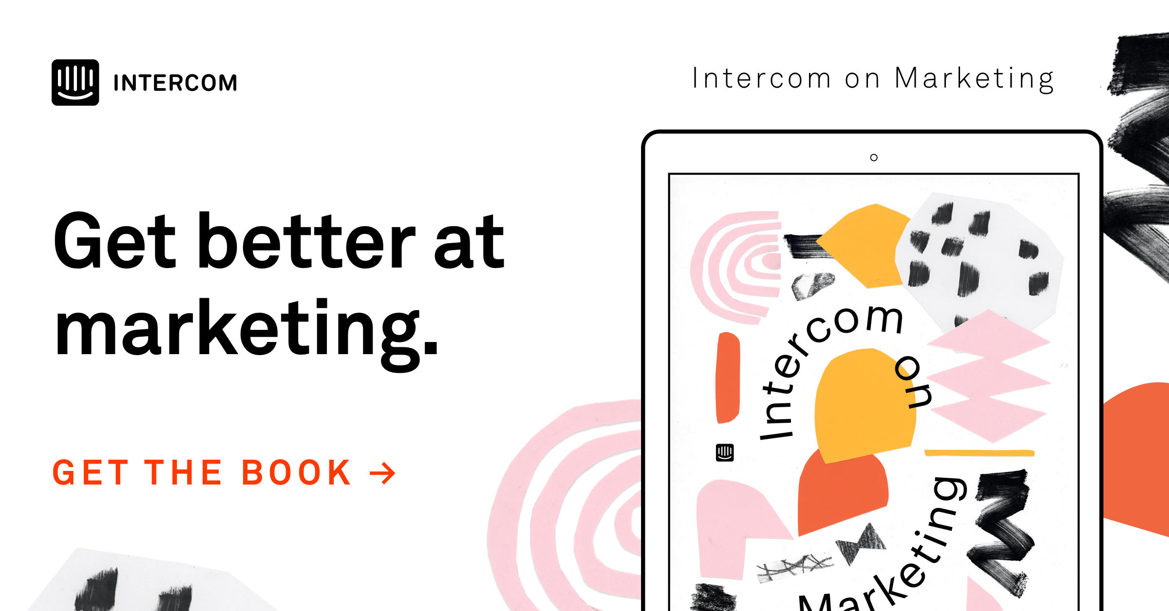 Intercom on Marketing blog CTA