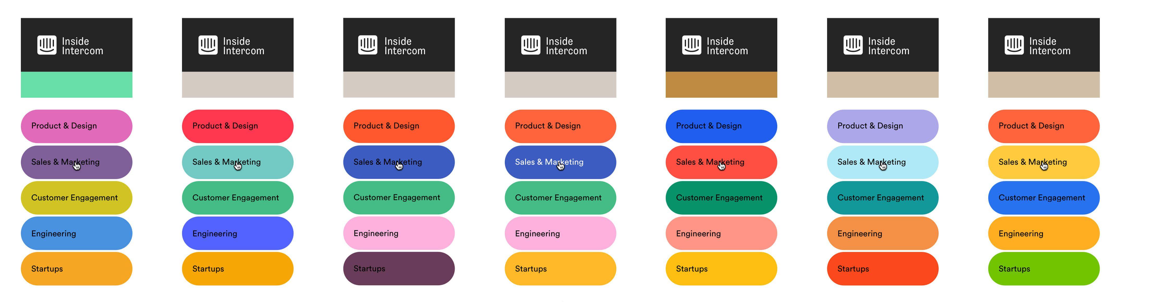 Color palette explorations