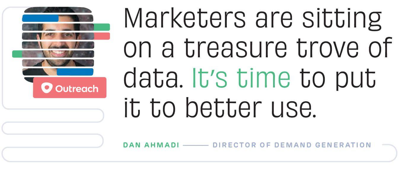Marketers are sitting on a treasure trove of data. Dan Ahmadi, Outreach.