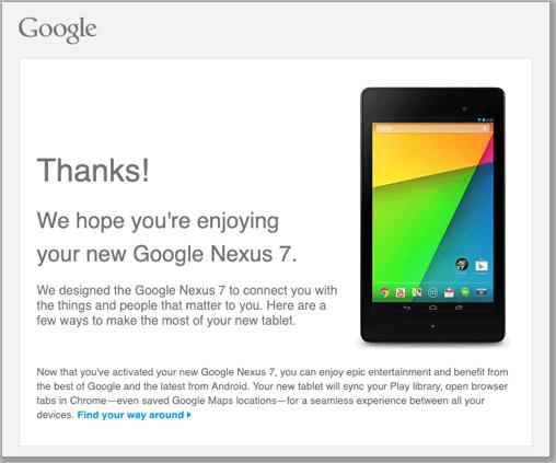 Google setup email