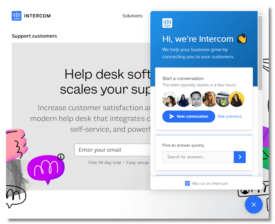 Intercom business messenger