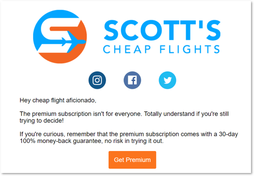 Scott's Cheap Flights email
