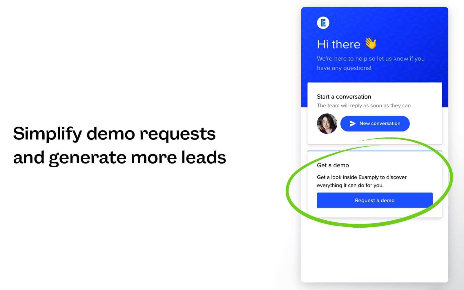 Get a Demo app for Intercom