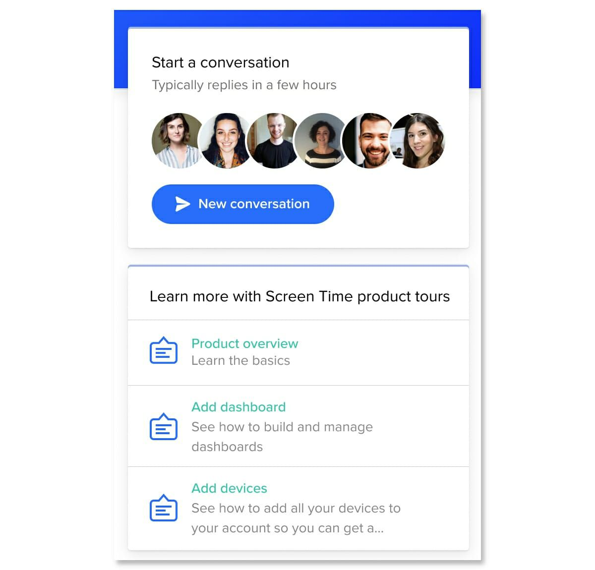 Product Tours: Showcase relevant tours right in the Messenger