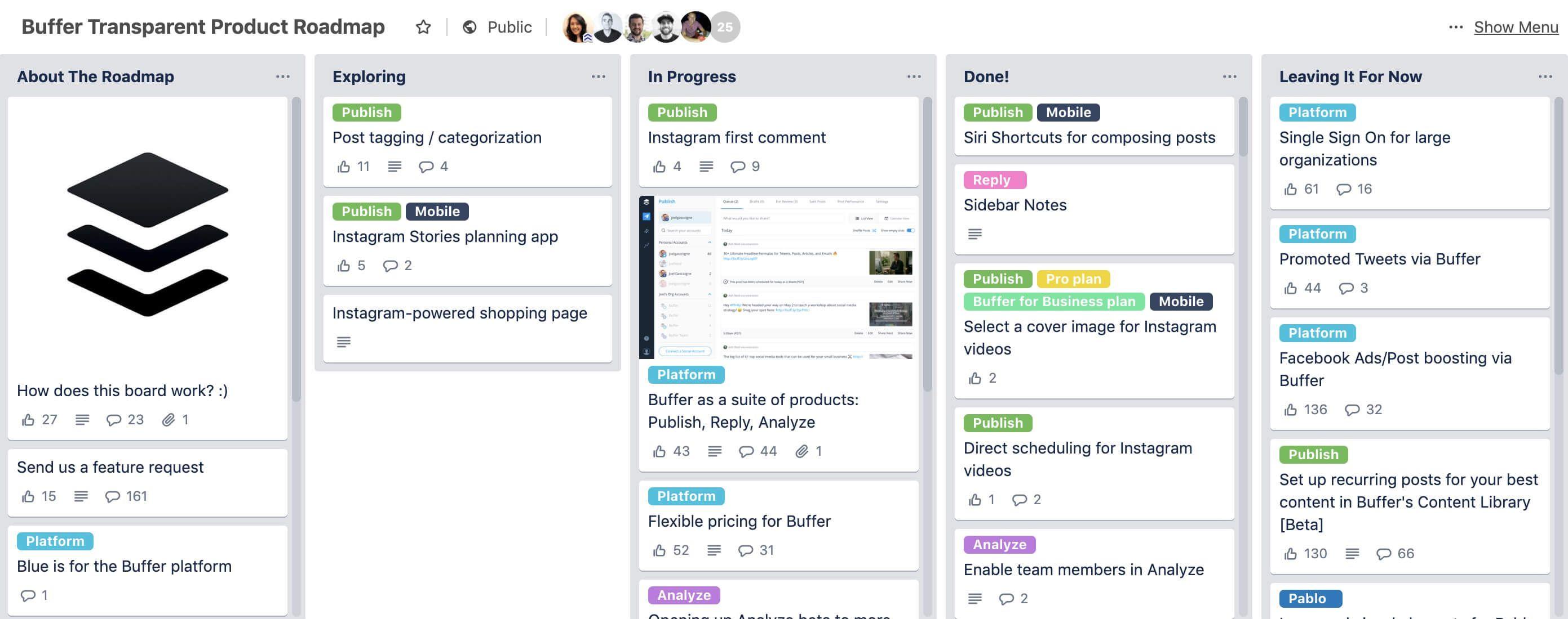 Public customer feedback programs