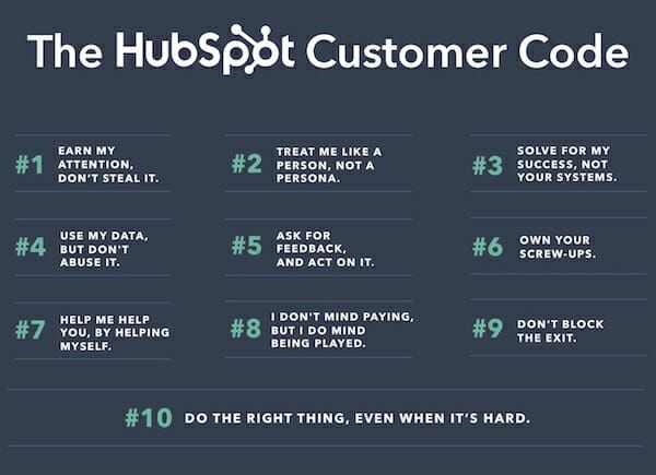 The HubSpot customer code