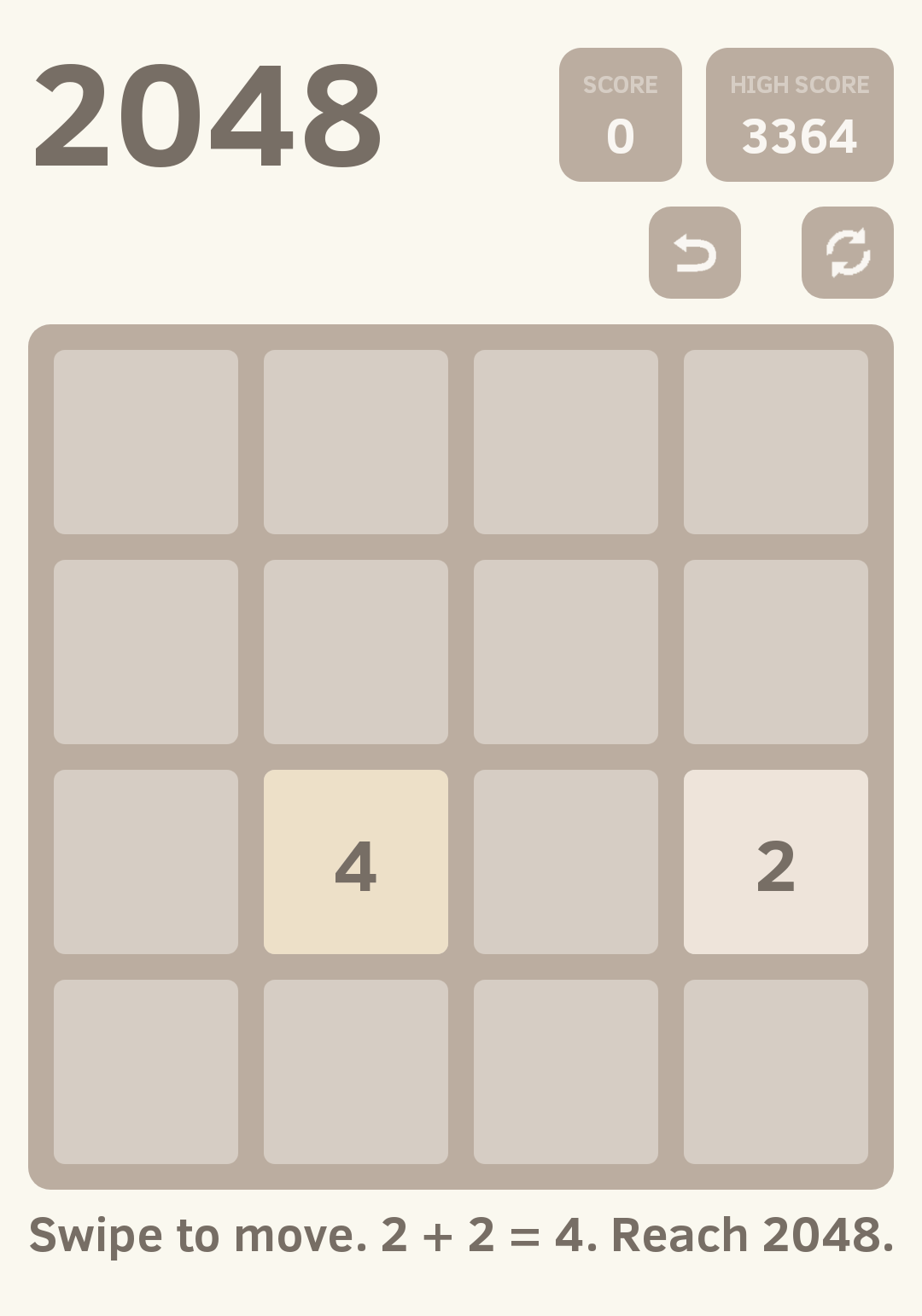 2048 welcome page