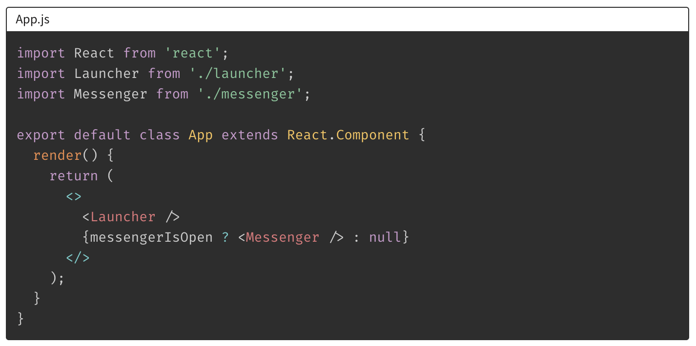 simplified app component