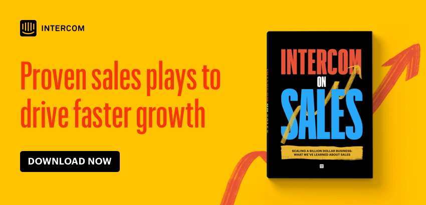 Intercom on Sales book ad