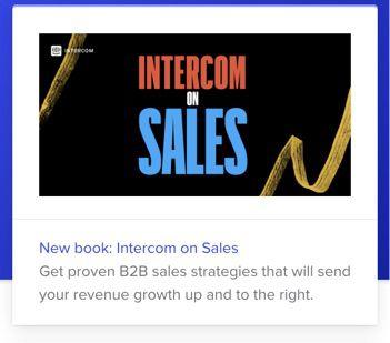 Intercom on Sales promotion message