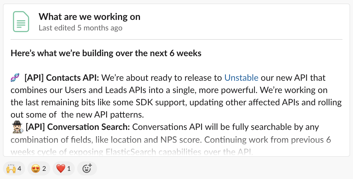 Partners get advanced notice of API updates