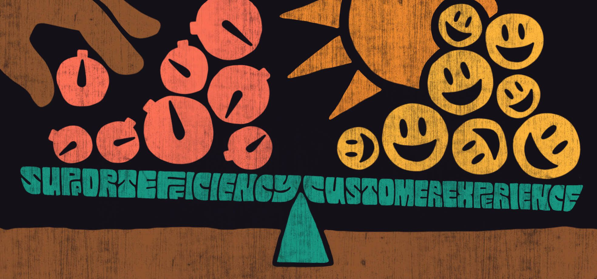Balancing support efficiency with a great customer experience