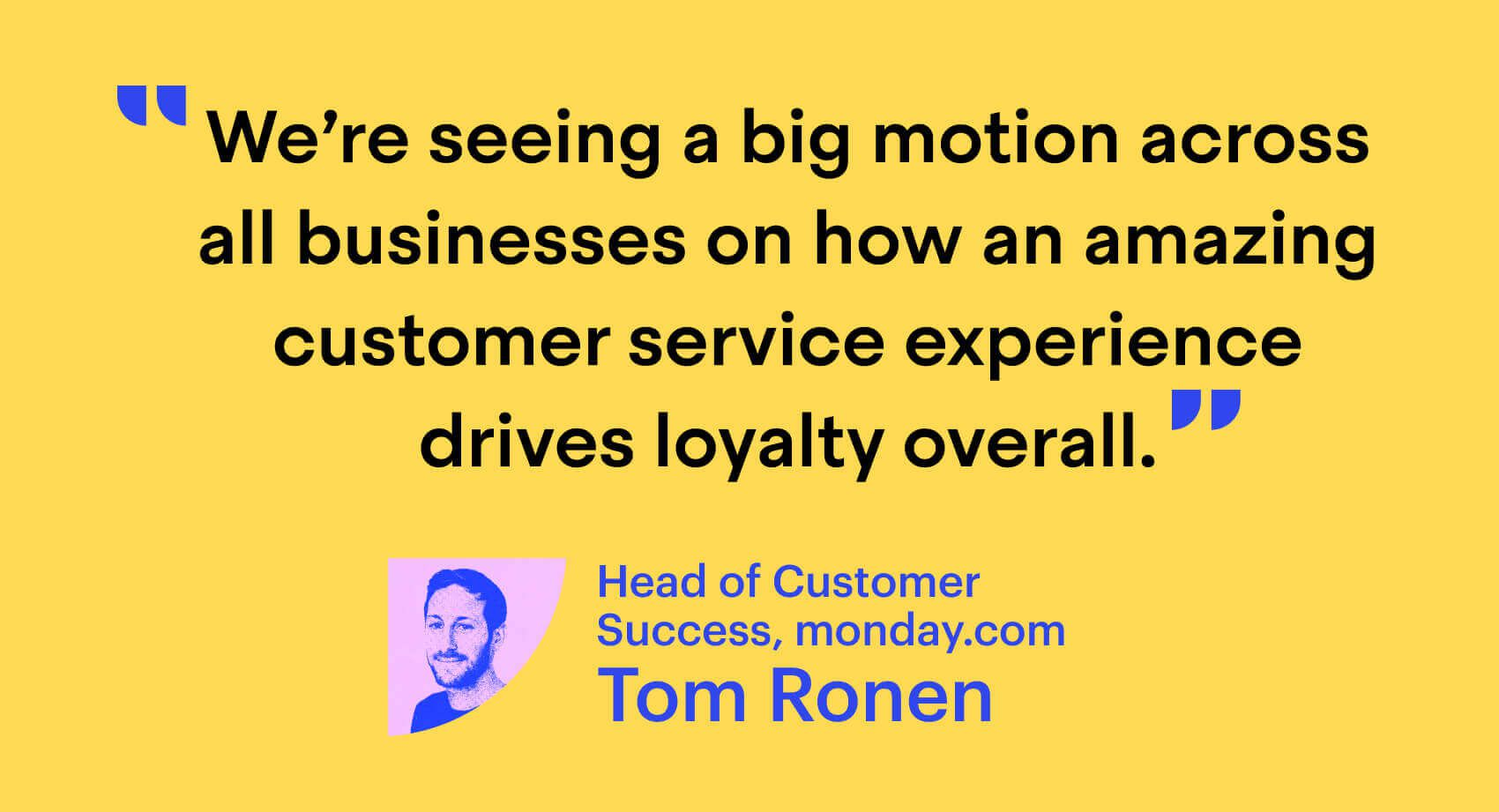 monday.com's Tom Ronen on customer loyalty