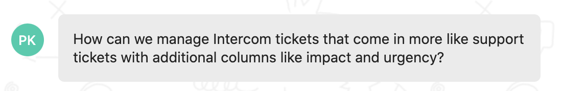Feedback - ticketing