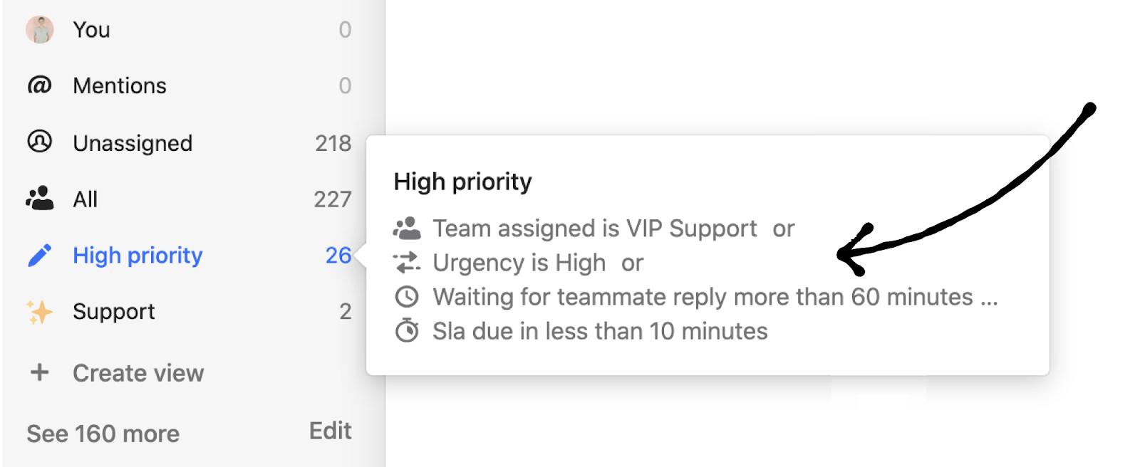 Intercom customizable Inbox views