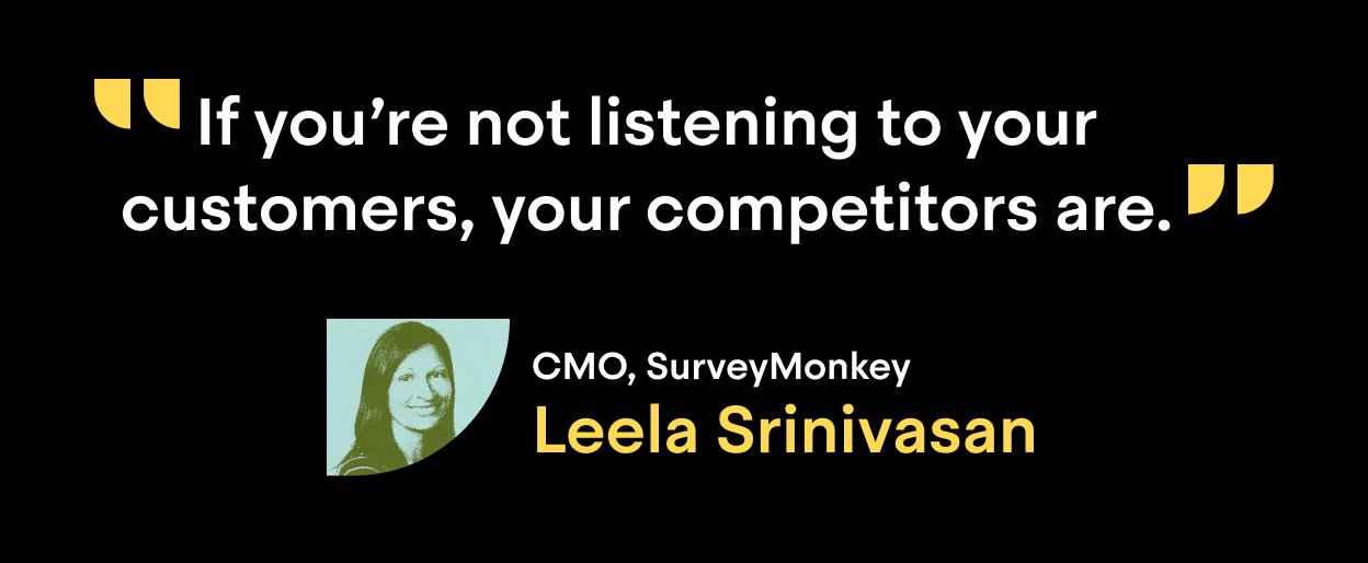 Scale podcast featuring Leela Srinivasan, CMO at SurveyMonkey