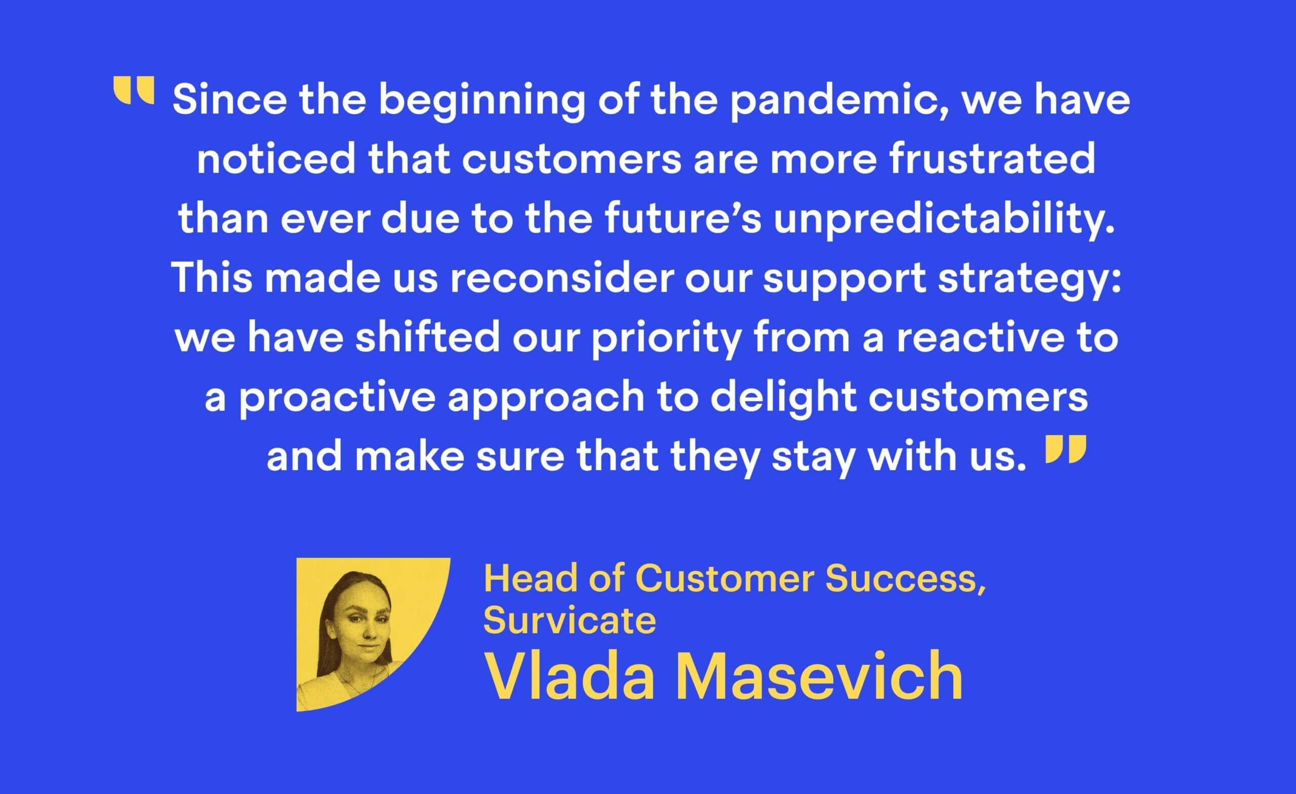 Vlada Masevich, Head of Customer Success at Survicate