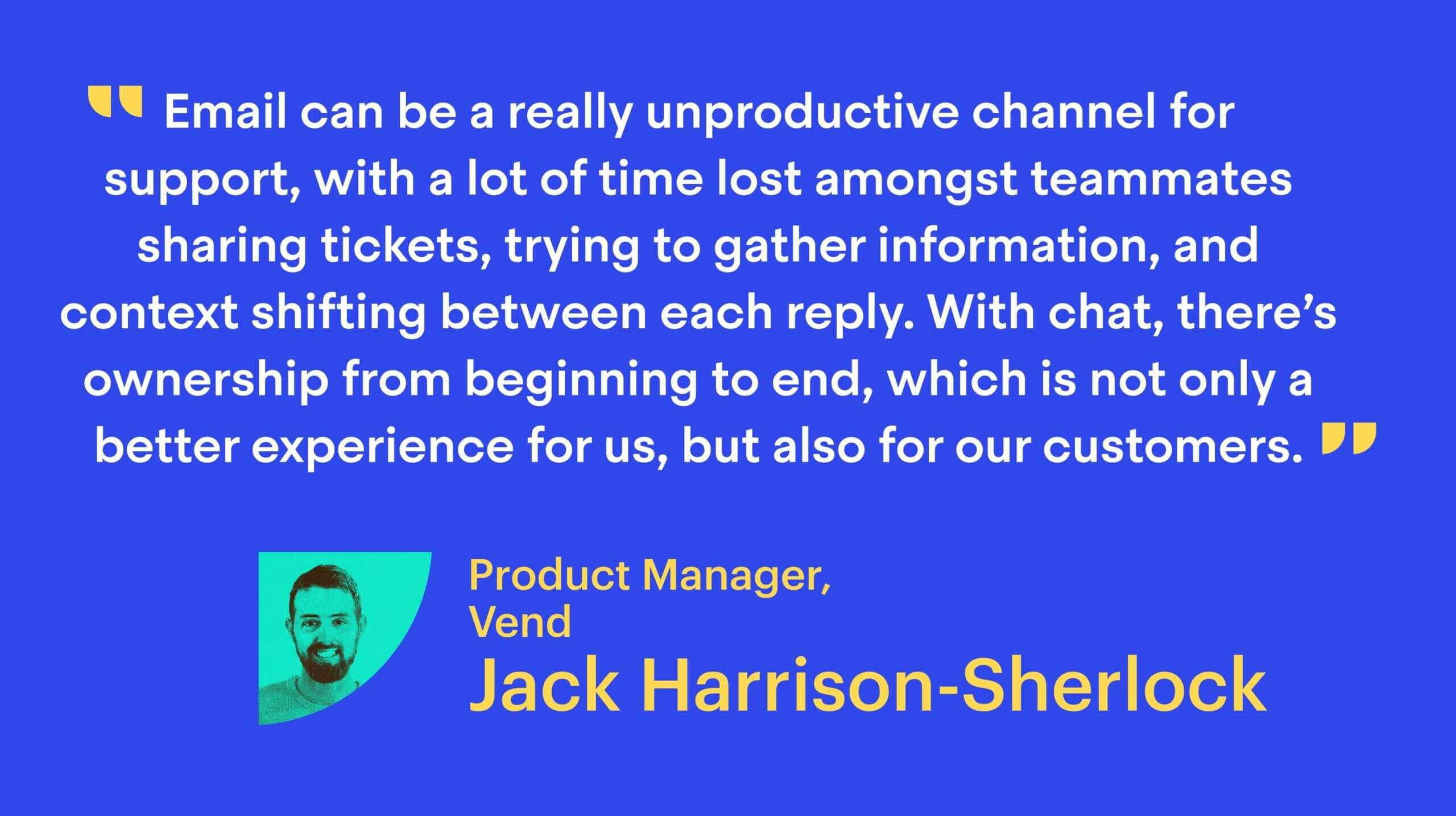 Jack Harrison-Sherlock, Product Manager at Vend
